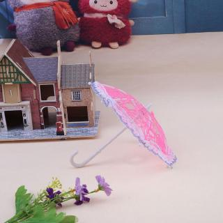 ♪ 1pc Umbrella Doll Accessories Plastic Lace Umbrella for Gilrs Doll (Random) ♪