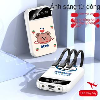 pin sạc dự phòng 20000mah hỗ trợ nhanh an toàn Dây điện thoại cực mỏng, gọn, xách tay, tự chứa, thường dùng cho cao thumbnail