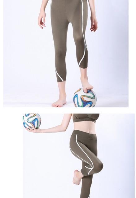 Quần Tập Gym Nữ Quần Tập Yoga Chất Liệu Thoáng Mát. Vân Kẻ Tinh Tế. ms 862