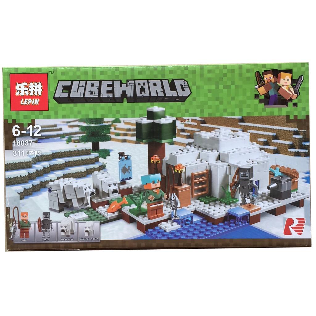 Lego xếp hình CubeWorld MineCraft - 306 PCS