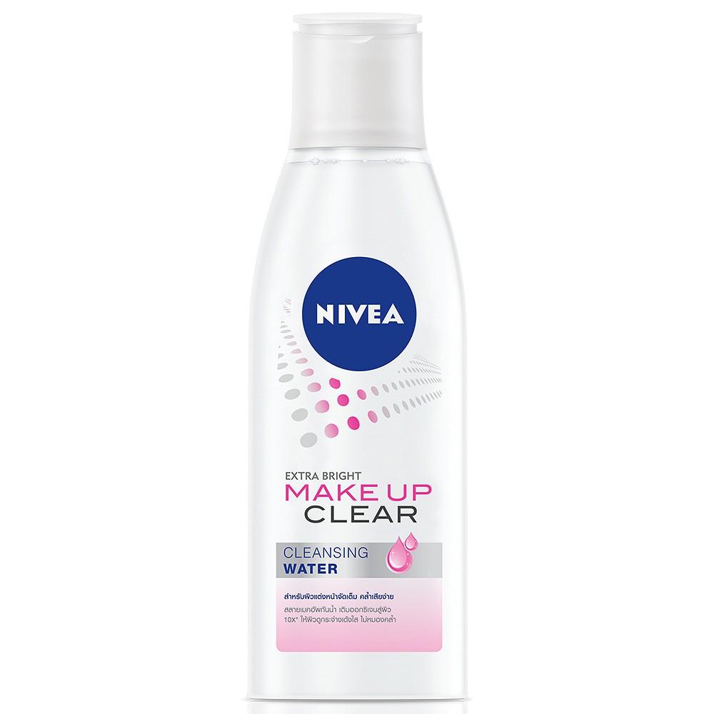 Nước tẩy trang săn da dưỡng ẩm Nivea Extra Bright Make Up Clear Cleansing Water 125ml Thái Lan