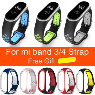 Dây đeo silicone thể thao thay thế cho đồng hồ Xiaomi Mi Band 3 Miband 3 4
