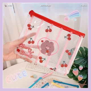Hộp Bút, Túi Đựng Đồ Zip Pouch Nhựa PVC Lưới 3 Size