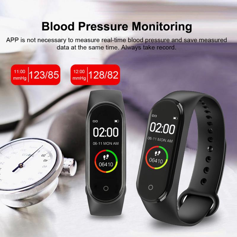 M4 Smart Watch Health Fitness Tracker Activity Bracelet Smartwatches Mi Band 4 For IOS Android