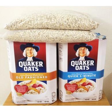 Yến mạch Quaker Oats túi zip 1kg hàng Mỹ Yến mạch Quaker Oats túi zip 1kg hàng Mỹ