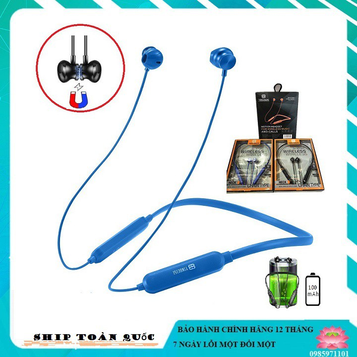 Tai nghe Bluetooth không dây YBS-0625 nhét tai hỗ trợ đàm thoại 6h,chống ồn cao cấp