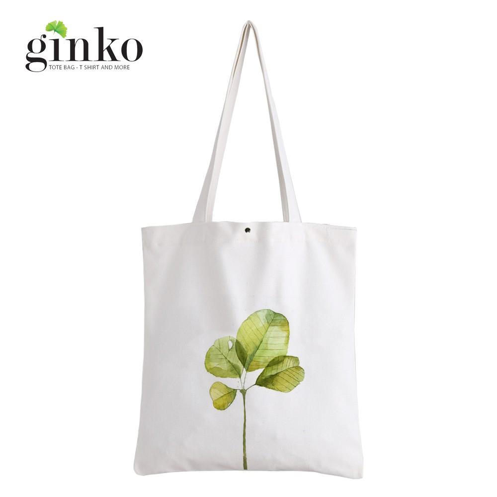 Túi Vải Tote GINKO Kiểu Basic In Hình cây lá G45