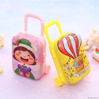 Cartoon Miniature Travel Suitcase Shape Candy Box Toy Christmas Gift