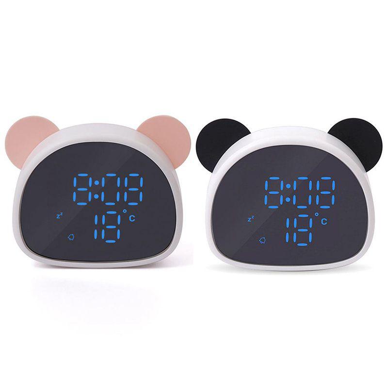 Đồng hồ báo thức điện tử hình gấu trúc đáng yêu