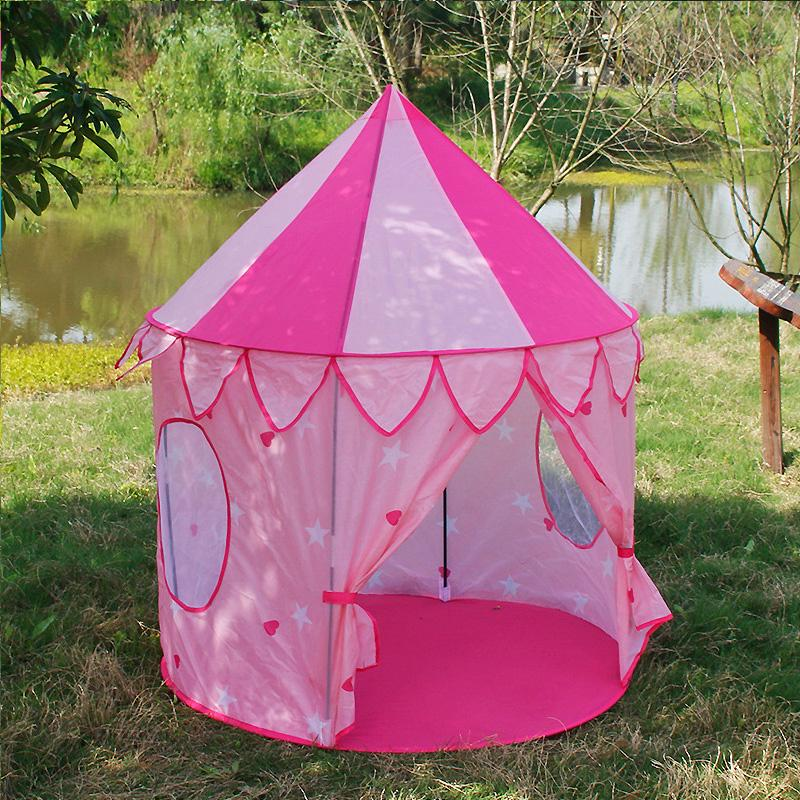 ❤Princess Castle Playing House Tunnel Kids Mongolian Yurt Game Tent Outdoor