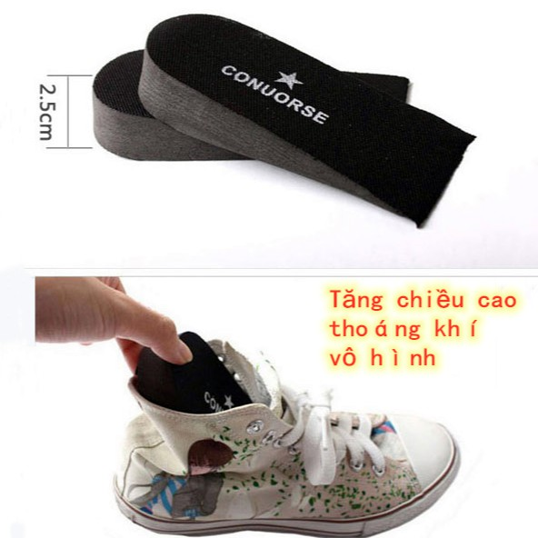 Đế lót độn giày tăng chiều cao tiện dụng