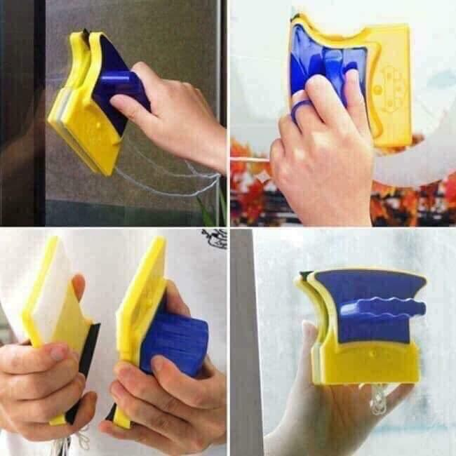 Miếng lau kính 2 mặt nam châm | Dụng cụ vệ sinh bể cá, lau cửa kính tiện dụng