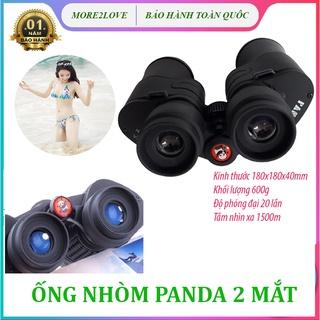 Ống Nhòm Panda 2 Mắt Siêu Nét Phóng Đại 20 Lần, Xa 1,5 Km, Công Nghệ Lấy Nét Tập Trung - Ống Nhòm Nhìn Xa thumbnail