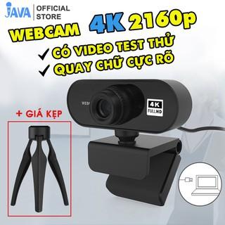 [4K NÉT GẤP 4 FULLHD] Webcam máy tính 4K – 38400 x 2160p và 2K – 2560 x 1440p – Thu hình cho máy tính, pc, TV, để bàn