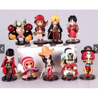 Mô Hình Nhân Vật One Piece Team Luffy Chibi ( Cả 9 Em )