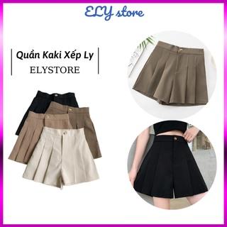 Quần đùi, quần kaki cho nữ kiểu cách xếp ly trẻ trung, sang trọng ELYSTORE có nhiều màu sắc lựa chọn thumbnail