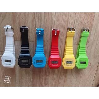 (Giá sỉ)Đồng hồ điện tử unisex dây nhựa CA007 phối theo đồ rất đẹp