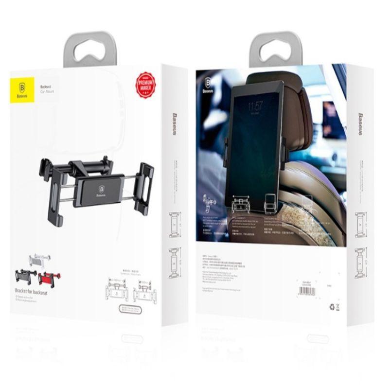 Giá đỡ điện thoại, ipad, máy tính bảng nhãn hiệu Baseus sau ghế ô tô, xe hơi SUHZ-01 - Bảo hành 6 tháng