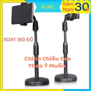 Kẹp điện thoại 💝FREESHIP💝 Xoay 360 Độ – Chỉnh Chiều Cao Theo Ý Muốn Giá Đỡ Điện Thoại
