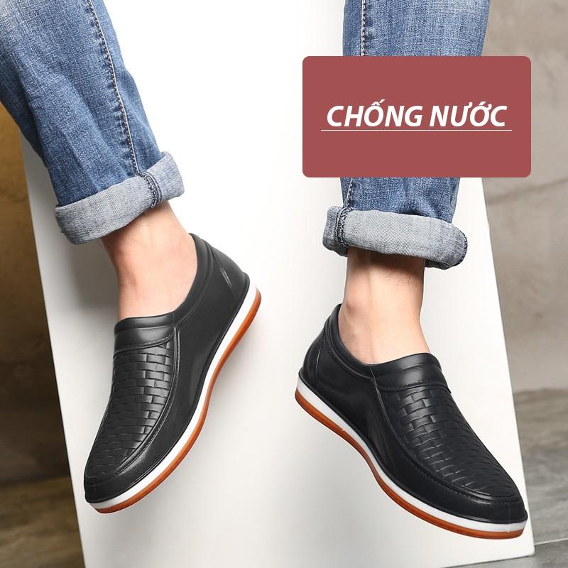 Giày lười nam DOL Đi Mưa chống nước và không nhàu phong cách giày nam đẹp công sở, dạo phố cá tính