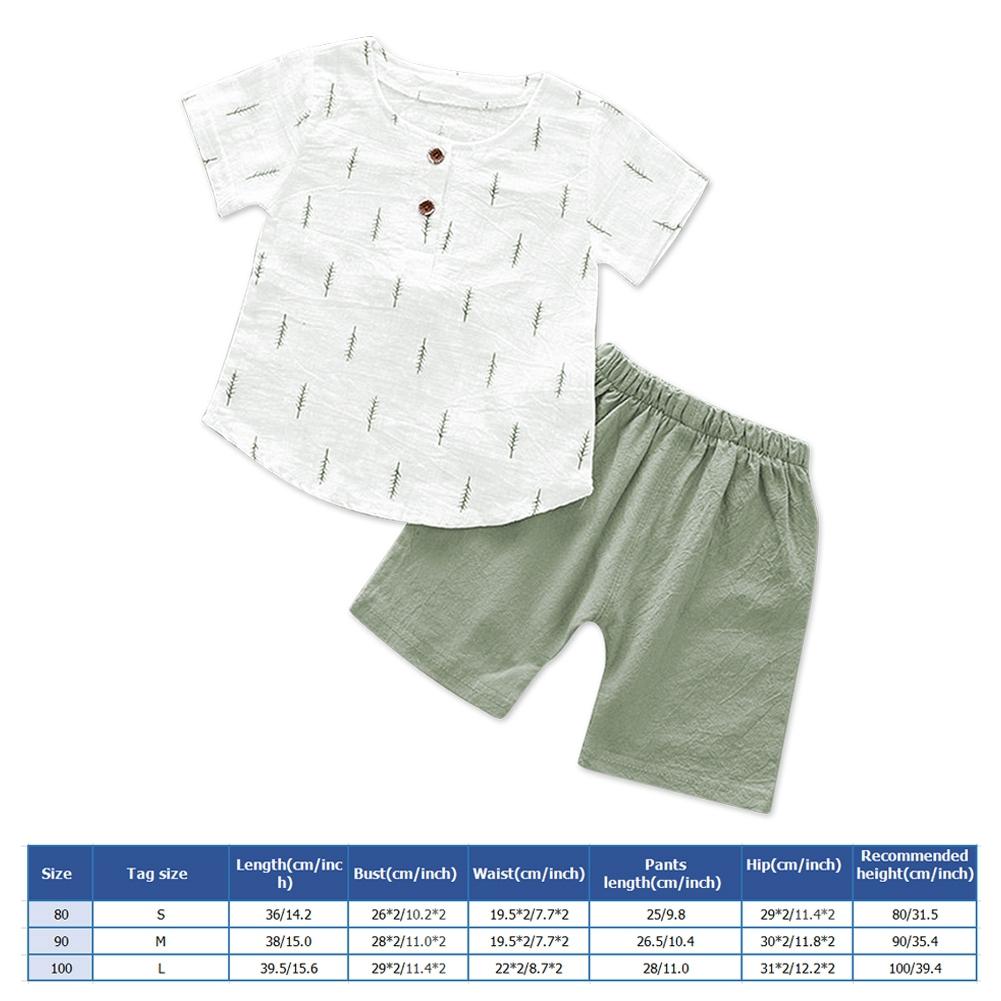 Little Shirt Shorts Original Leaves Baby Children's Suit Outfit Clothes +
