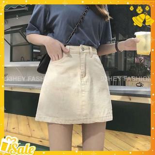 [Mã WASTMS hoàn 12K xu đơn 99K] Chân váy chữ A vải Denim dáng ngắn lưng cao phong cách Hàn Quốc CV04