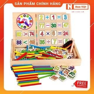 Bộ học toán 100 chữ số đa năng 2 mặt bảng viết, đồ chơi giáo dục thông minh