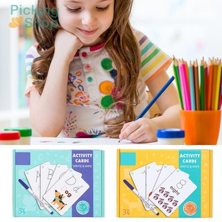 Alphanumeric Word Writing Cognitive Card Erasable Practice Handwritten Card