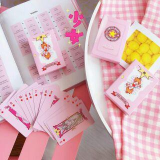 [TIRAMISU NEKO] Bộ bài Tây Ma thuật – Bài Poker – Cardcaptor Sakura