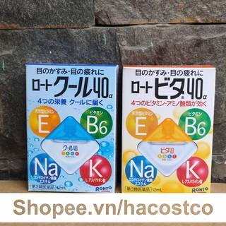 [Mã COS2509 giảm 10% đơn 250K] Nước Nhỏ Mắt Rohto Vita 40 Nhật Bản 12ml - Rohto nhật bản Vitamin 40