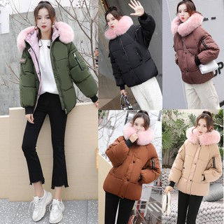Women Warm Slim Fur Collar Jacket