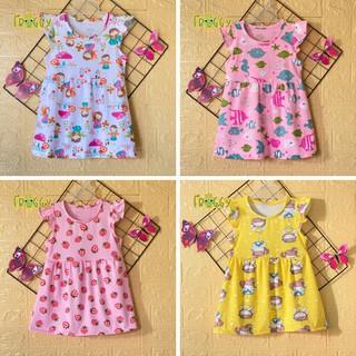 Váy, đầm thun cotton Cánh Tiên Froggy cho bé gái, chất vải thun cotton 4 chiều, đầm tết bé gái, đồ tết cho bé