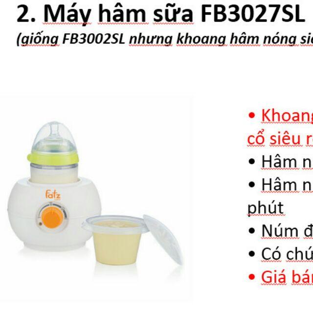 Máy hâm sữa Fatzbaby FB3027sl có khoang rộng cho mọi loại bình - 2704160 , 647960680 , 322_647960680 , 340000 , May-ham-sua-Fatzbaby-FB3027sl-co-khoang-rong-cho-moi-loai-binh-322_647960680 , shopee.vn , Máy hâm sữa Fatzbaby FB3027sl có khoang rộng cho mọi loại bình