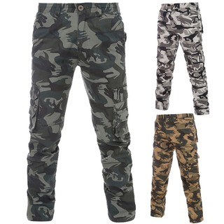 Men's overalls large size camouflage overalls trousers 7101