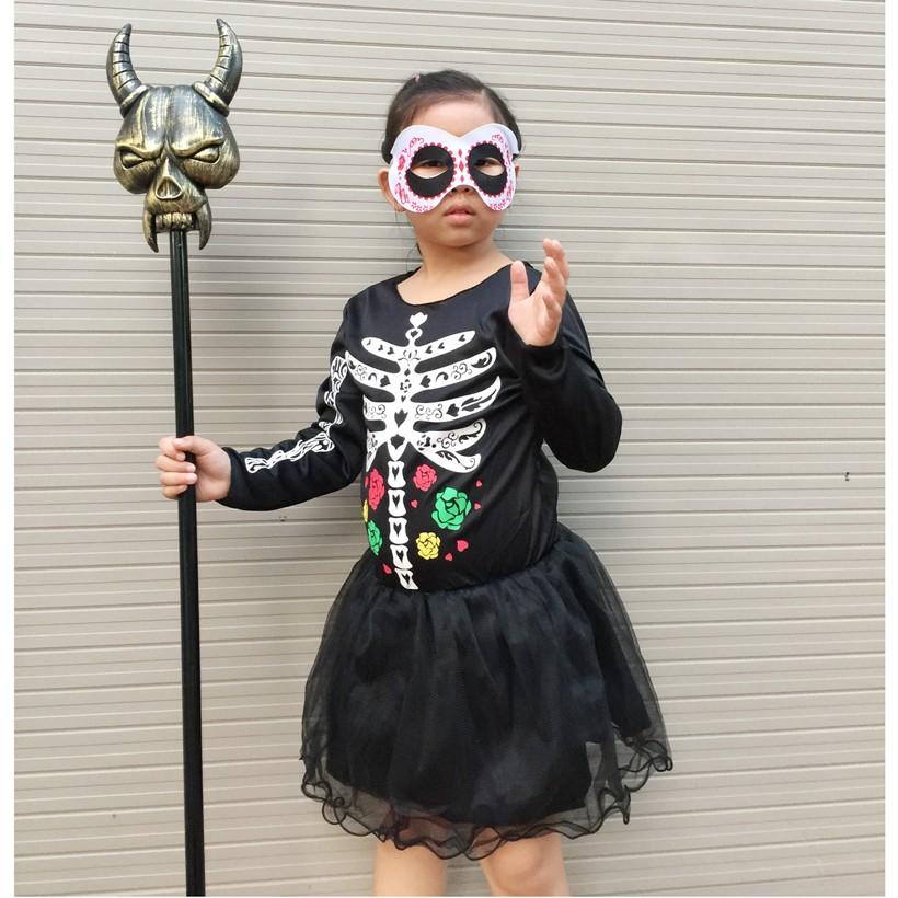 Bộ váy hóa trang Halloween mẫu xương (gồm áo váy và mặt nạ) - 3310366 , 584681784 , 322_584681784 , 260000 , Bo-vay-hoa-trang-Halloween-mau-xuong-gom-ao-vay-va-mat-na-322_584681784 , shopee.vn , Bộ váy hóa trang Halloween mẫu xương (gồm áo váy và mặt nạ)