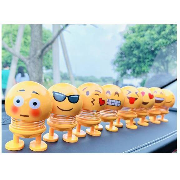 Emoji Lò Xo Lắc Đầu LOẠI 1 – Thú Nhún Emoji Lò Xo để ô tô, gắn x