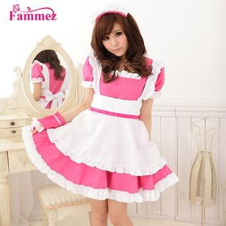 Trang phục người hầu – maid hồng