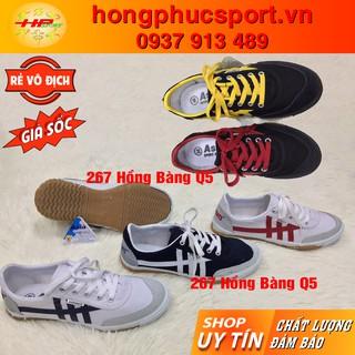 Giầy bata vải Asia csh01 csh03 trắng sọc, đen sọc, xanh thể thao thời trang chạy bộ thể dục
