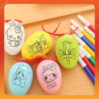 [K A] Quả trứng tô màu cho bé + Bút màu HÀNG TỐT