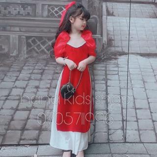 Combo áo dài cho bé gái