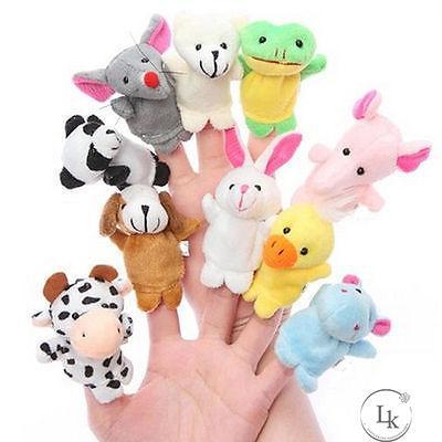 III-Tốt nhất 10 * Pcs Dễ Thương Finger Puppets Giáo Dục Đồ Chơi