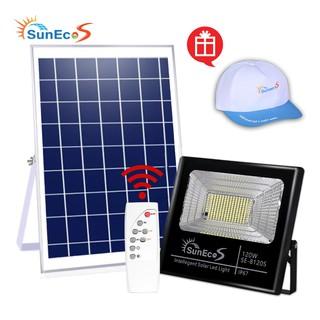 Đèn năng lượng mặt trời 120W Suneco, đèn pha led năng lượng mặt trời, Bảo hành 2 năm, Tặng kèm mũ Suneco