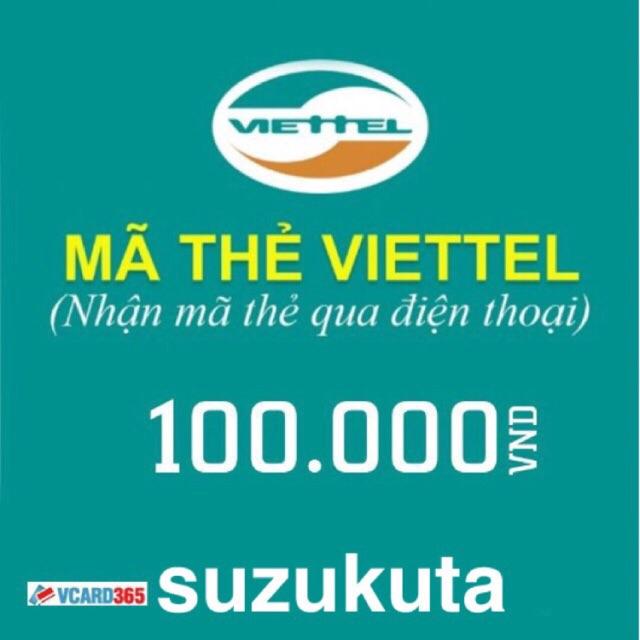 Thẻ viettel mệnh giá 100k