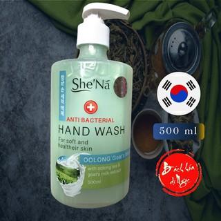 [Mã NGOCSHENA giảm 10K đơn 99K] Nước rửa tay SHE NÃ Hương Trà Oolong & Sữa dê 500ml - Công thức Hàn Quốc - diệt khuẩn thumbnail