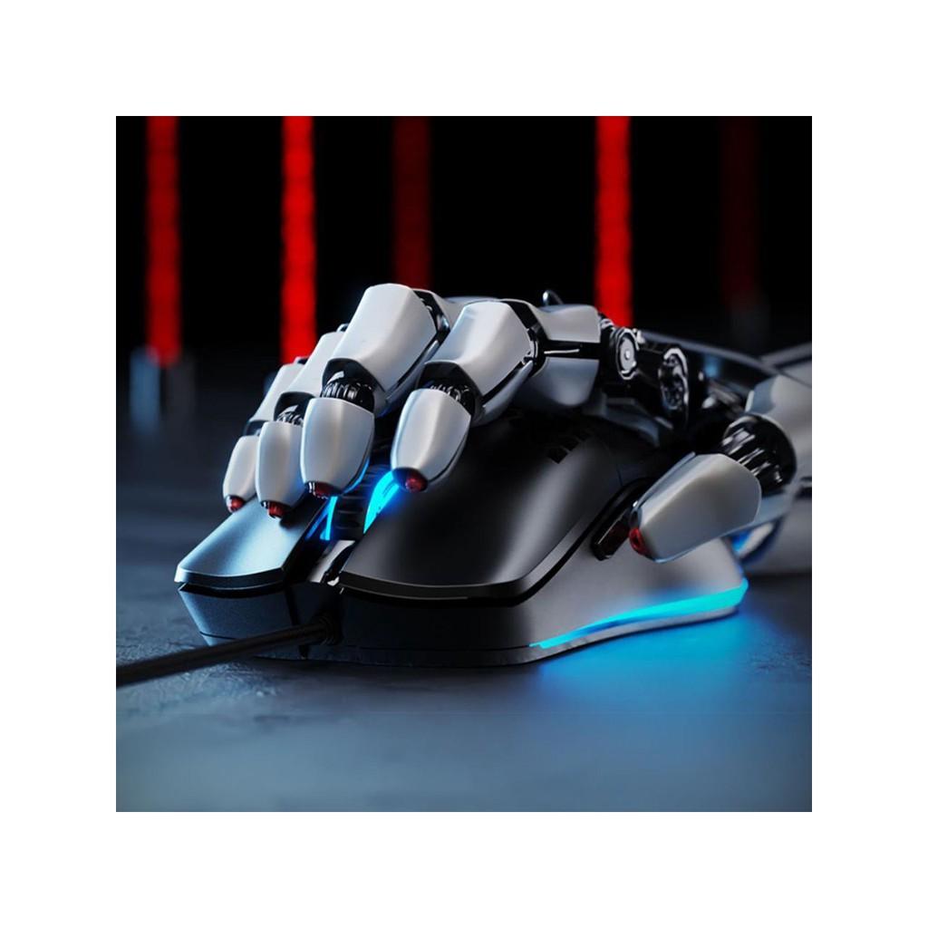 Chuột chơi game inphic W10 với vỏ tổ ong trọng lượng nhẹ cảm biến quang học Pixart 3325 đèn nền RGB 7 nút - Chính Hãng