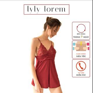 Váy ngủ lụa hai dây Lylylorem VN065 thumbnail
