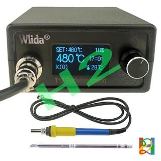 Trạm hàn T12 máy hàn Wlida Ver2.12 vỏ nhựa màn hình OLED 1.3Inch (Input 220VAC)