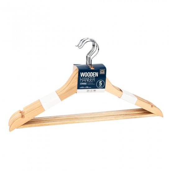Bộ 5 Móc Treo Quần Áo Ettom Bằng Gỗ Lock & Lock ETM382 (445 x 230 mm)