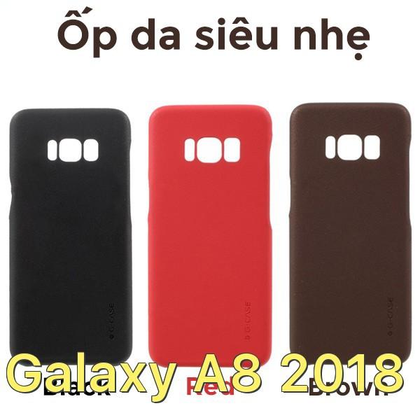 Ốp lưng bằng da siêu mỏng chính hãng G-Case cho Samsung Galaxy A8 2018
