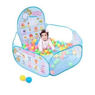 COM 1.2M Ocean Ball Bobo Ball Pool With A Ball Hoop Stand Kid's Play Tent